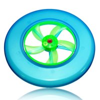 Wholesale Luminous UFO Flash Light Up Toys Colorful Frisbee Rotating Flywheel Led Toy