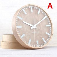 Wholesale Quiet bedroom wall clock creative contracted quartz clock Europe type circular quartz clock