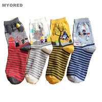 animations knitting - New Striped cartoon fairy tale Animation Totoro sox Autumn Summer South Korean women s Cotton tube Socks meias soks crew ankle student socks