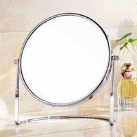 bathroom definition - 7 inch fashion high definition desktop makeup mirror Face metal bathroom mirror X magnifying Rotate degrees cosmetic