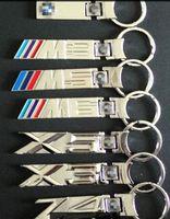 Wholesale Good quality MIX logos alloy M3 M5 M6 X3 keychains X5 Z4 car key ring chrome