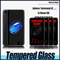 Wholesale Iphone Plus Samsung Galaxy S6 S5 Top Quality Tempered Glass Screen Protector for iphone MM D with retail box