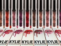 Wholesale 28 color kylie lip pencil Lord Metal Gold the Limited Edition Birthday CONFIRMED Matte Lipstick lip Kit kylie conmetic