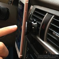 auto air conditioners - Car Magnetic Phone Holder Autos Mobilephone Holders Vehicle Cellphone Stand for Car Air Conditioner Outlet helps to Cool Phones
