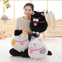 Wholesale Cute Fat Cat Plush Toys Colors sitting cat cloth doll baby pillow aniamls stuffed plush doll kids Christmas present