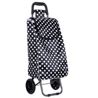 Cheap Shopping cart driver shopping car trailer with waterproof color butyl cloth shopping bags of wear-resistant solid rubber wheel