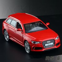 audi toy - 1 alloy car models high simulation Audi RS6 metal diecasts toy vehicles pull back flashing musical