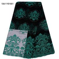 african fabrics uk - Embroidered Nigeria Lace Fabric High Quality African Tulle Lace Fabric UK for Wedding Dress Indian Lace Fabric D611YD18