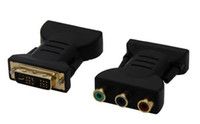 Wholesale New DVI I Male To RCA Female Component AV Connector Converter Adapter