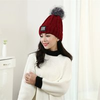 army women hair - autumn and winter new wool cap letter IGE ladies fashion hair ball winter knitting hat