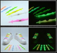 Wholesale Best VING Luminous Shoelaces Fashion Light Up Casual Sneaker Shoe Laces Disco Party Night Glowing Shoe Silicone Strings