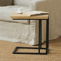 Wholesale Type wrought iron wood coffee table side table a few corner sofa a few multi function computer phone desk bedside table