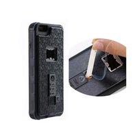 apple bottle opener - For IPhone s plus Multifunctional Armor Case Bottle Opener Cigarette Lighter Shatterproof Back Cover Case OPP Bag
