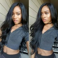 beauty wave long - Beauty A Quality Full Lace Human Hair Wigs For Black Women Indian Human Hair Glueless Boby Wave Lace Front Wig With Baby Hair