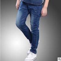 al por mayor jeans para hombre 14-Los pantalones vaqueros de los niños nuevos 2016 pantalones del resorte / del otoño forman a pantalones del muchacho los pantalones vaqueros estándar blancos Size6-14 del color azul del color Size16-14 ly144