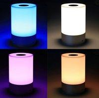 aluminum desk lights - w LED touch sensor lamp USB reading desk light w bluetooth speaker night light