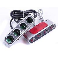 automotive power adapter - Car Cigarette Lighter Socket Splitter Ways With Switch DC V V Auto Car Charger Power Adapter Automotive Electronics