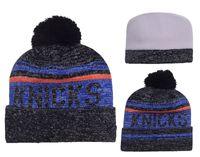 Wholesale 2016 Football Pom Pom Beanies Cheap Knicks basketball Beanies Knitted Beanie Hats Popular Warm Winter Caps Sports Team Hats Allow Mix Order