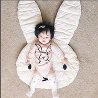 Wholesale New Soft Baby Padded Play Game Mats Rabbit Crawling Blanket Floor Carpet Kids Room Hot INS Children Round Rugs Creeping Mat Large CM