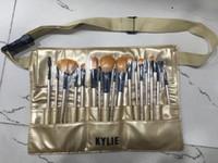 Wholesale Powder foundation blusher Makeup Brushes set Multipurpose Beauty kylie Cosmetics Kabuki Gold with brush cas