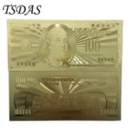 american banknote - 10pcs American k Gold Foil Banknotes Paper Money Dollar Souvenir Banknote Decoration Gift