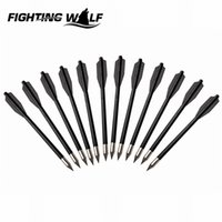 Wholesale 12PCS Hunter Nocks Fletched Arrows Plastic Arrow For Recurve Bow Target Hunting Shooting Arrow With Changeable Arrowheads for sports