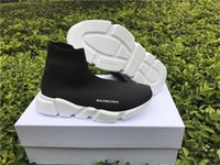 Wholesale Balenciagas Speed Trainer Hi Sock Knit Sneakers Grey BNIB DS Tech MID Speed Trainer Grey Sock knit NEW With Box