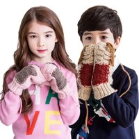 Wholesale Korea KK Tree Baby Children Warm Winter Glove For Lovely Girls Gloves Winter Fashion Outdoor Mittens