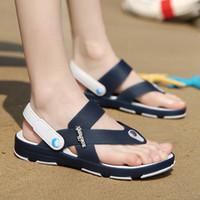 Precio de Transpirables zapatillas para hombre-Los deslizadores suaves de la playa del tirón de los zapatos respirables del verano de las sandalias de los hombres al por mayor-2016 deslizan los deslizadores suaves refrescan los zapatos cómodos
