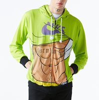 abs muscles - 2016 fantastic d print green color Abs muscle hoodie sizes hoody cool worm casual hiphop winter wear sweatshirts