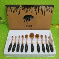 Wholesale NEW arrival set Kylie Oval Makeup Brush Cosmetic Foundation BB Cream Powder Blush pieces Makeup Tools