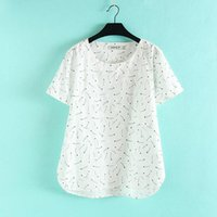 bell gel - T2 Summer Casual Women T shirt Plus Size Woman Clothes Short Sleeve Loose Cotton Linen Tops Convex White Floral Gel print Tees