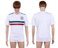 Wholesale 2017 Soccer Jerseys Team Mexico Jersey White Color Away Jersey S M L XL Mix Match Order Customs Jersey Thai Version High Quality