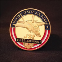 air force challenge coin - Usaf F Lightning JSF Air Force Challenge Coin Gold Plated Coins Craft