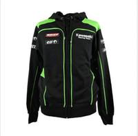 jacket racing - Kawasaki Men s Clothing Cotton Hoodies Jackets Racing MotoGP Valentino Motorcycle motocross casual sweater coat