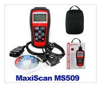 Wholesale DHL MS509 MaxiScan code OBD scanner latest version high quality ms509 Code Reader Autel MS Car Diagnostic Tool