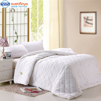 Wholesale Handmade silk comforter cm white color stiching Quilt winter spring Autumn bedding Filler