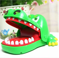 Wholesale Lovely Gift for Kids Cute Playing Toy Green Crocodile Mouth Dentist Bite Finger Game Funny Toy