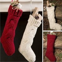 adorn boots - Christmas Decoratio hanged adorn wool boots set of manual knitting of osmanthus needle Christmas gift bag decorated socks leg warmers