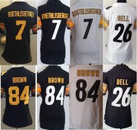 Wholesale 2017 Lady game version Steelers Ben Roethlisberger Le Veon Bell Troy Polamalu Antonio Brown Embroidery women girl Jerseys