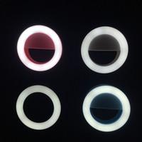 Wholesale Selfie Ring Light Universal LED Flash Smartphone Light LED s Portable Mini Pocket Spotlight Camera Flashlight for iPhone6 Plus S Samsung