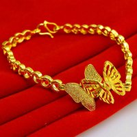 asian euro - Euro micro explosion taking hot Double Butterfly Butterfly Bracelet Euro K gold plated jewelry jewelry