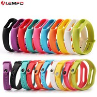 Wholesale Sale Colorful Silicone Wrist Strap Bracelet Replacement watchband for Miband Xiaomi Mi band strap Wristbands