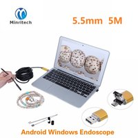 Wholesale Black Gold in mm Lens LED Android USB Waterproof Endoscope Camera Borescope Inspection Camera with m Length Cable