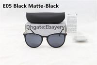 al por mayor protección de la caja negro-1pcs Protección de alta calidad UV400 Gafas de sol de gafas de sol Moda Gafas de sol de marca de fábrica para hombres Mujeres Matt Negro 54mm Lente con caja de caja