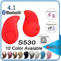 al por mayor célula auricular-Ultra más pequeño S530 mini auricular sin hilos del auricular de los auriculares del auricular de Bluetooth V4.0 con el micrófono Fone De Ouvido para todo el teléfono celular vende al por menor
