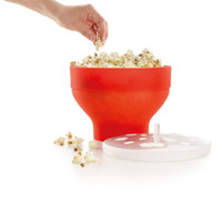 Hot Air Popcorn Maker air pop popcorn maker - NEW Arrival Microwaveable Popcorn Maker Silicone Pop Corn Bowl Microwave Popcorn Bucket With Lid Kitchen Baking Tools
