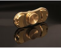 Wholesale Pure copper EDC Torqbar Hand Spinner Fingertip Gyro Decompression Anxiety Fidget Spinner Toy With Retail Box