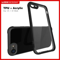 Wholesale 2017 New iphone Plus Clear Case Back Cover Transparent Hard PC Soft TPU Frame Case For iphone7 plus