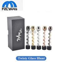Wholesale Clone pipe Twisty Glass Blunt Pipe Kit Colors Second Generation Herbal Vaporizer Dry Herb Vape Pen Twist Me Vapor Tobacco Grinder
